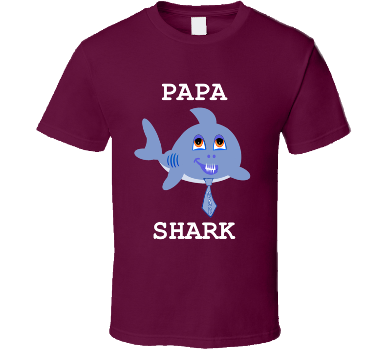 Cuteedoll.com Babyshark Papa Shark Adult T Shirt