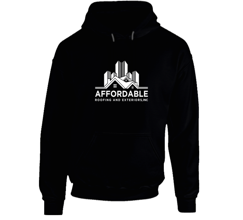 Affordable Roofing White Logo Hoodie