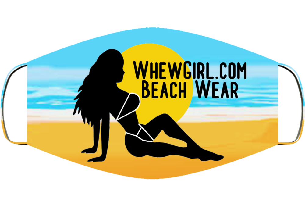 Whewgirl.com Logo Beach Face Mask Cover