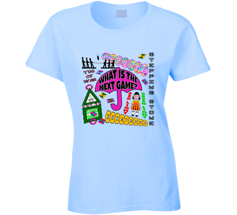 Squid Player Game Fan Art - Tv Game Show Contestant - Tpir (the Price Is)  Ladies T Shirt