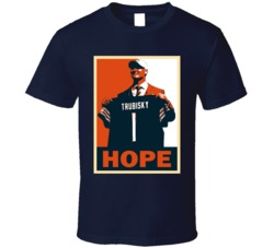 Mitch Trubisky Chicago Football Hope Poster T Shirt