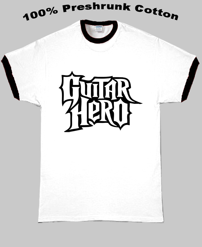 Guitar Hero Video Game Logo T Shirt