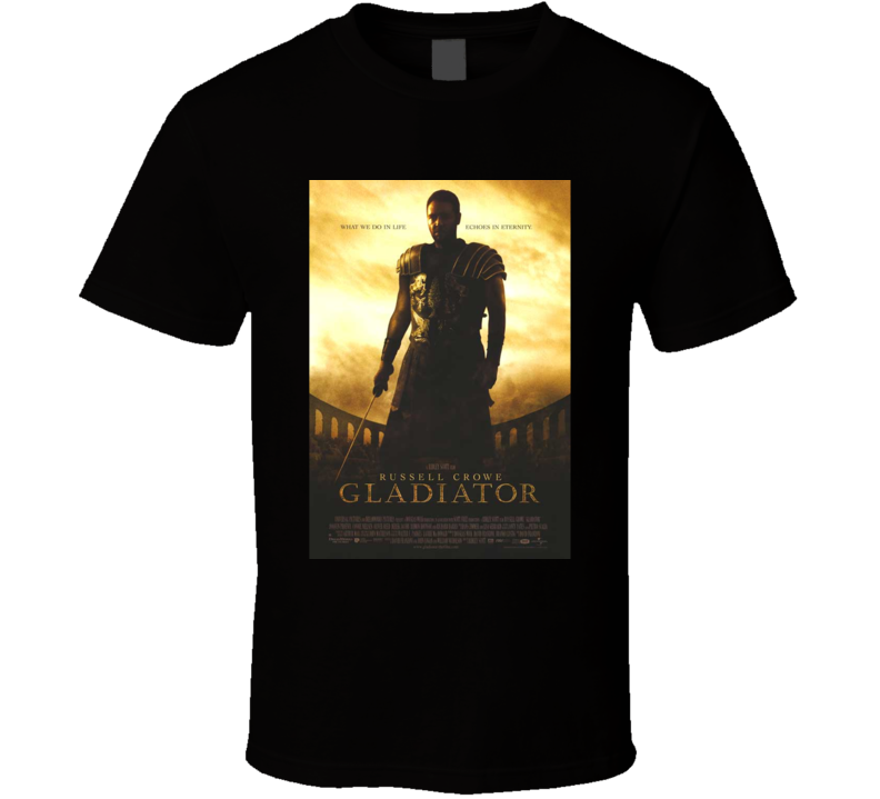 Russel Crowe 2000 Gladiator  Cool Movie Poster Fan T Shirt
