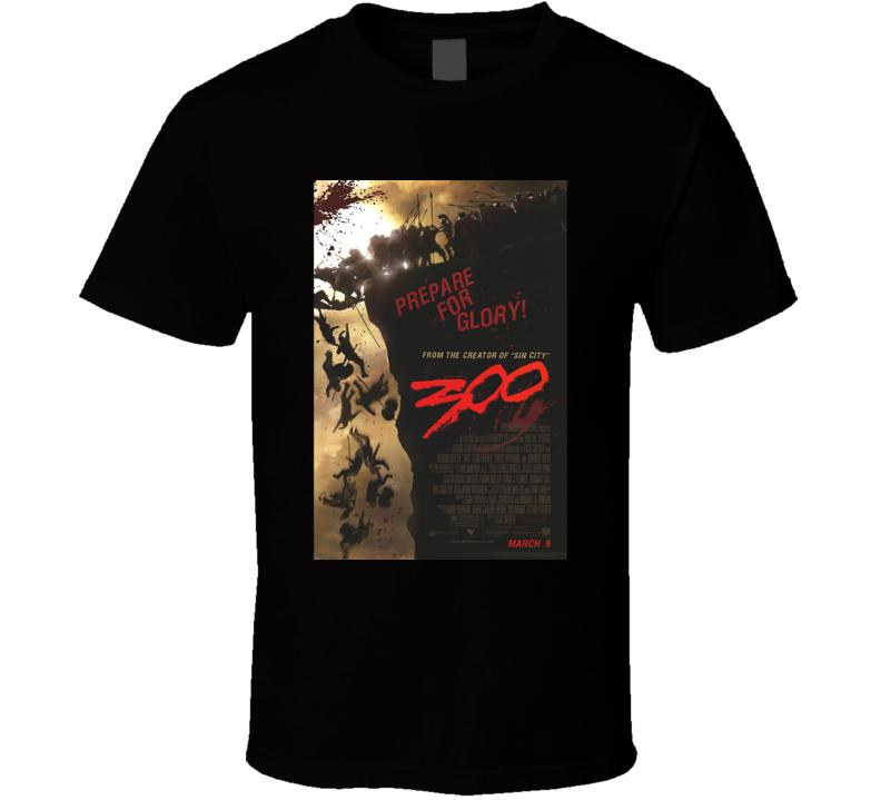 Gerald Butler Lena Headey 2006 300 Cool Movie Poster Fan T Shirt