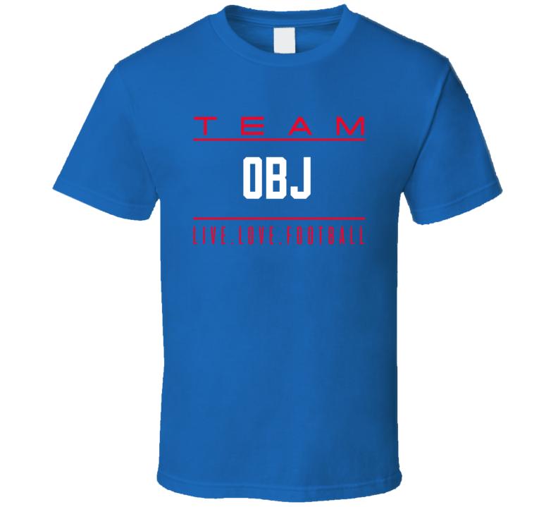 Odell Beckham Jr Team Obj New York Football T Shirt
