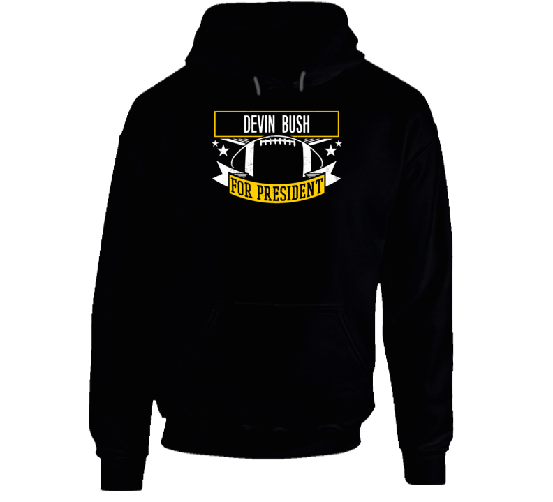 Devin Bush For President Football Pittsburgh Hoodie