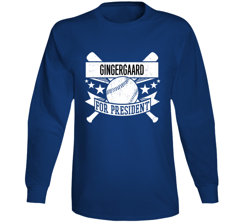 Gingergaard For President Baseball La Dustin May Long Sleeve