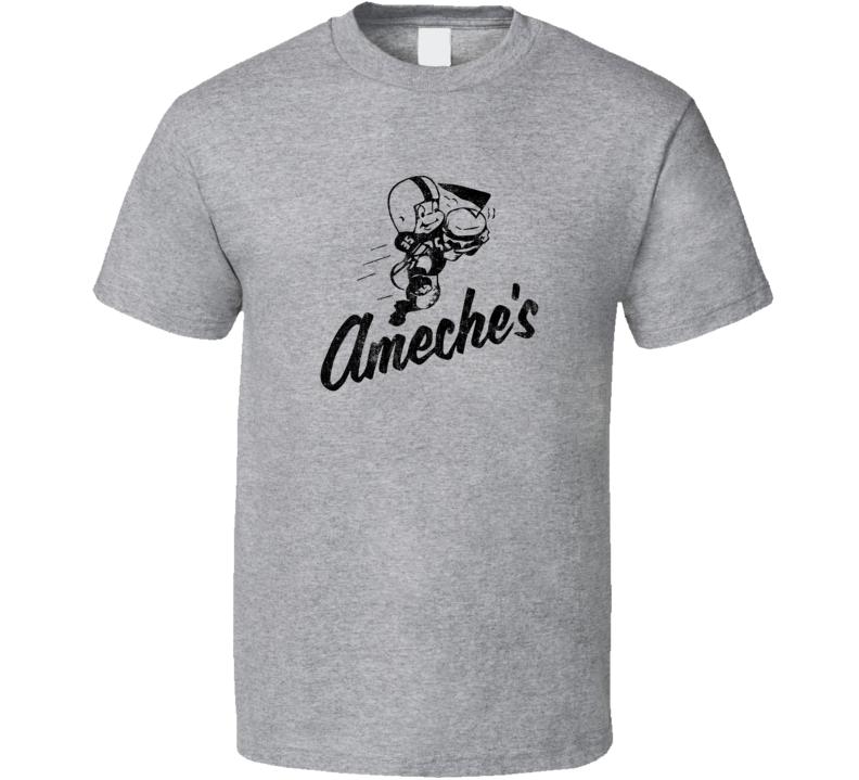 Ameche's Drive In Classic Retro Fast Food Restaurant Logo Fan Foodie Food Worn Look T Shirt