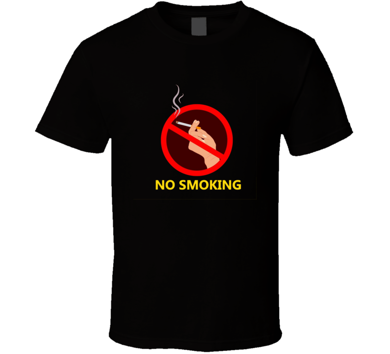 No Smoking Classic Cigarette Poster Cool T Shirt