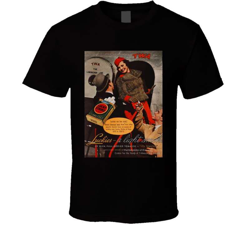 Lucky  Stripe Classic Cigarette Poster Cool T Shirt