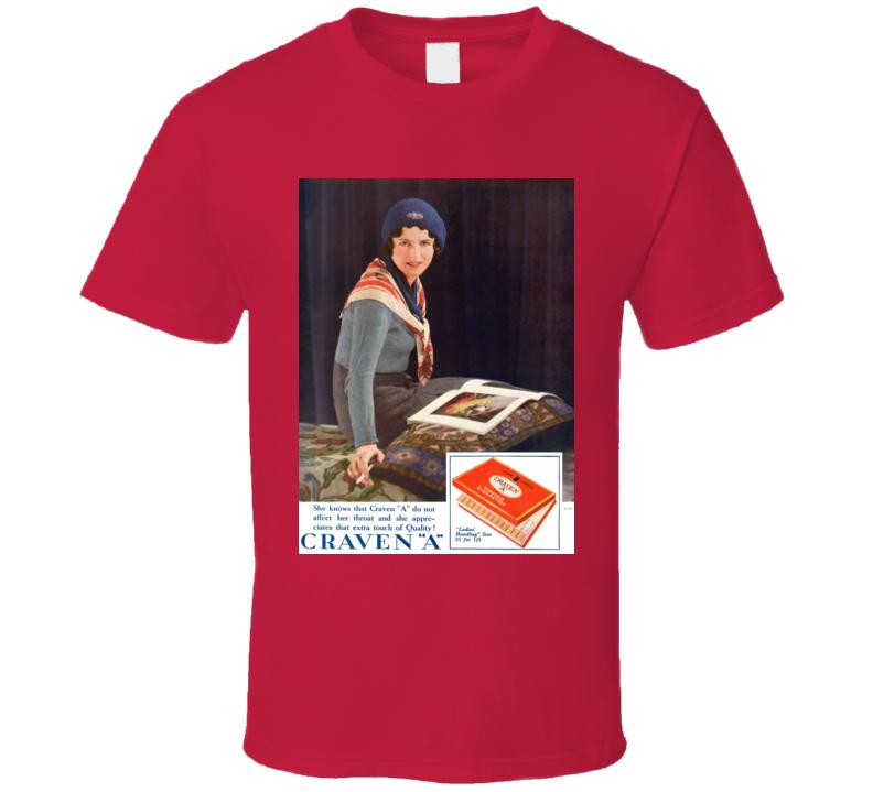 Craven A Classic Cigarette Poster Cool T Shirt