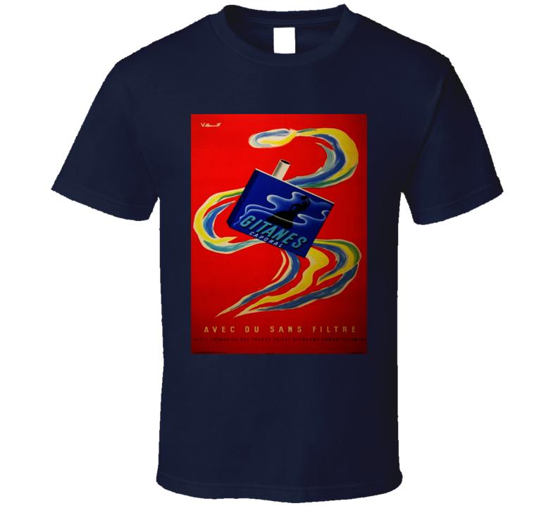 Gitanes Retro Classic Cigarette Poster Cool T Shirt