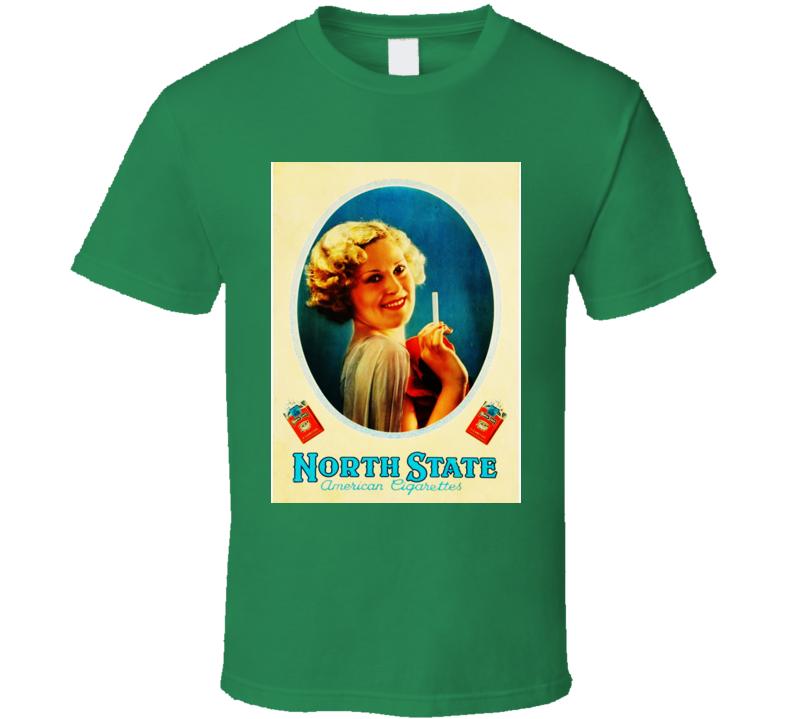 North State Classic Retro Cigarette Poster Cool T Shirt