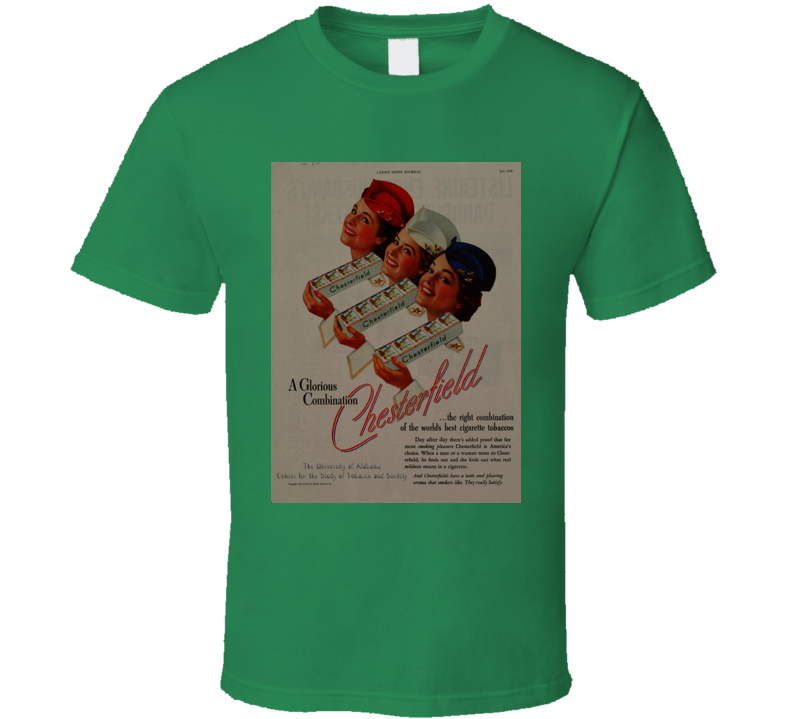 Chesterfield Classic Retro Cigarette Poster Cool T Shirt