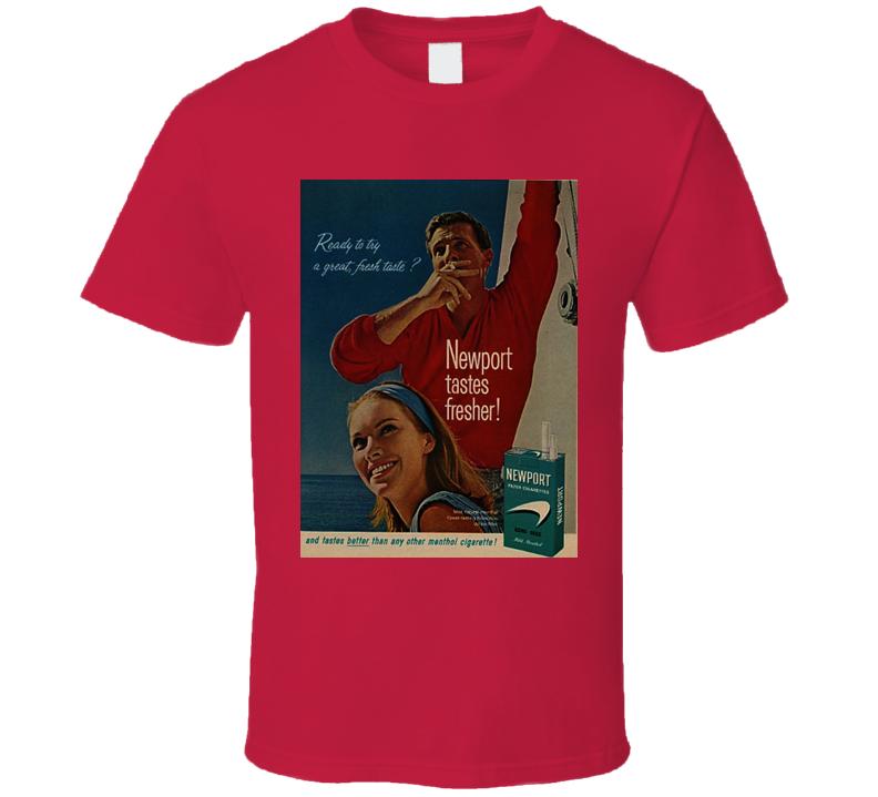 Newport Cigarettes Classic Cigarette Poster Retro Cool T Shirt