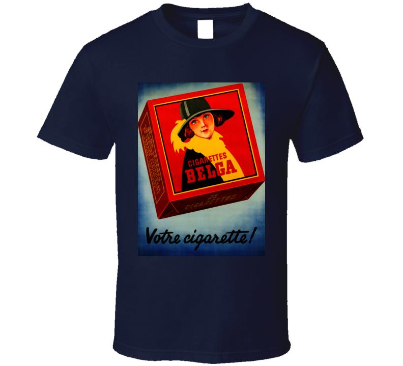 Votre  Cigarette Classic Retro Poster Cool T Shirt