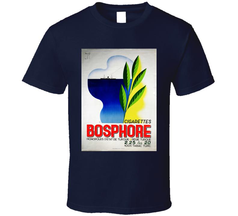 Bosphore Retro Classic Cigarette Poster Cool T Shirt