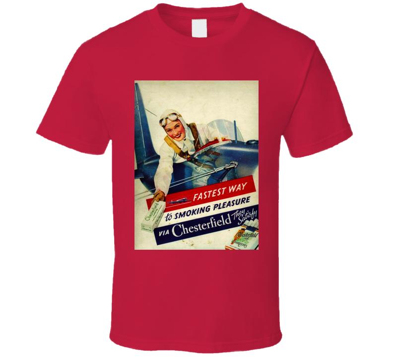 Chesterfield Retro Cigarette Poster Cool T Shirt