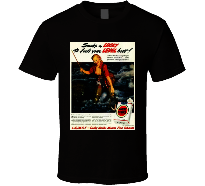 Lucky Strike Retro Classic Cigarette Poster Cool T Shirt