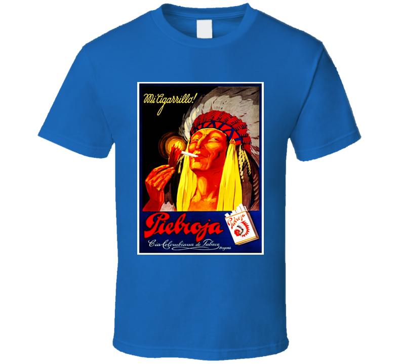 Pielroja Classic Cigarette Poster Cool  Retro T Shirt