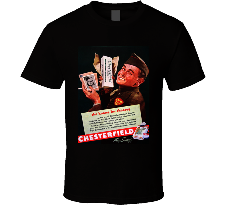 Chesterfield Retro Classic Cigarette Poster Cool T Shirt