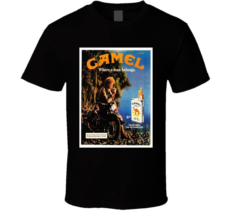 Camel Classic Cigarette Retro Poster Cool T Shirt
