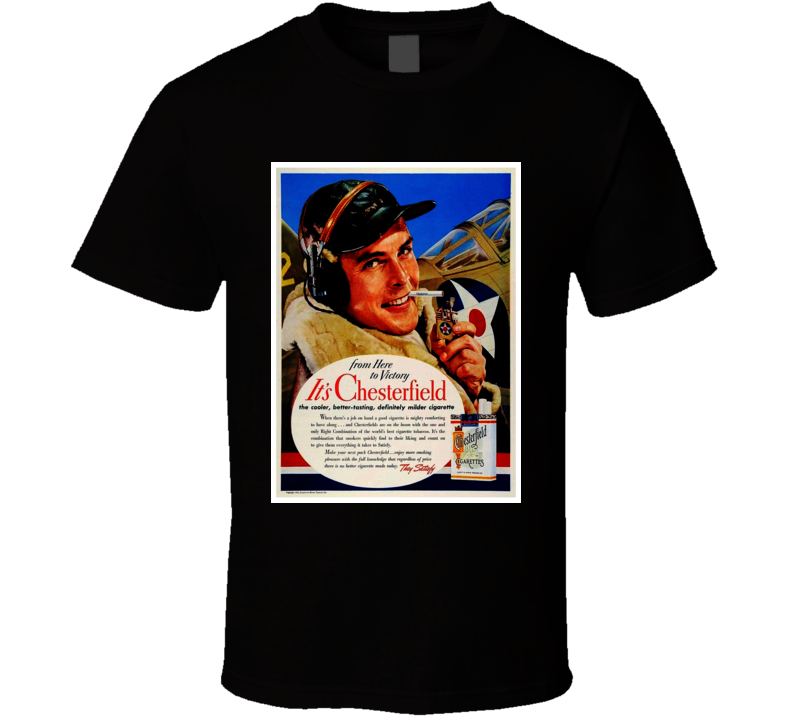 It's Chesterfield Classic Retro Cigarette Poster Cool T Shirt