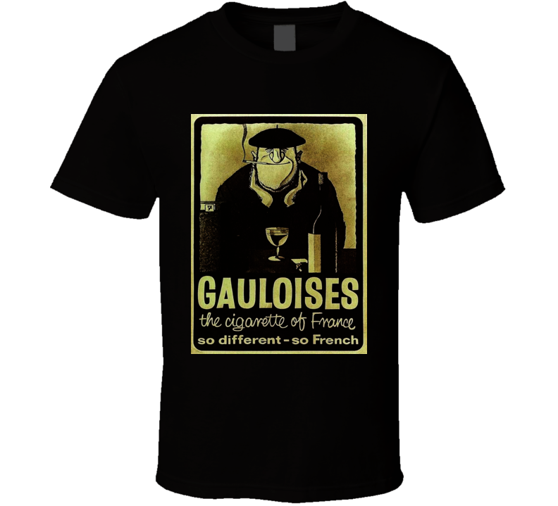 Gauloiises Classis Cigarette Poster Cool T Shirt