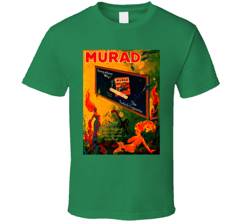 Murad Classic Retro Cigarette Poster Cool T Shirt