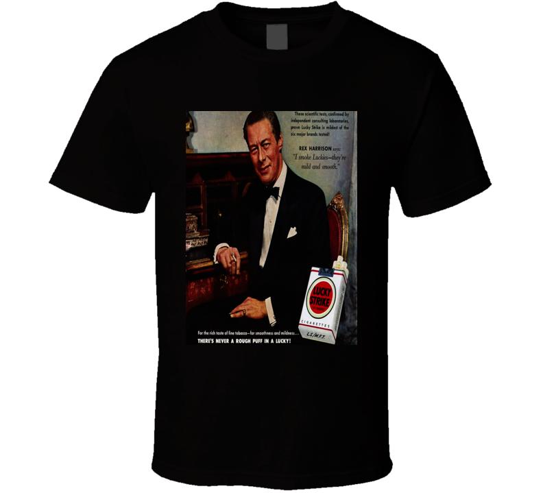 Lucky Strike Classic Cigarette Poster Retro T Shirt