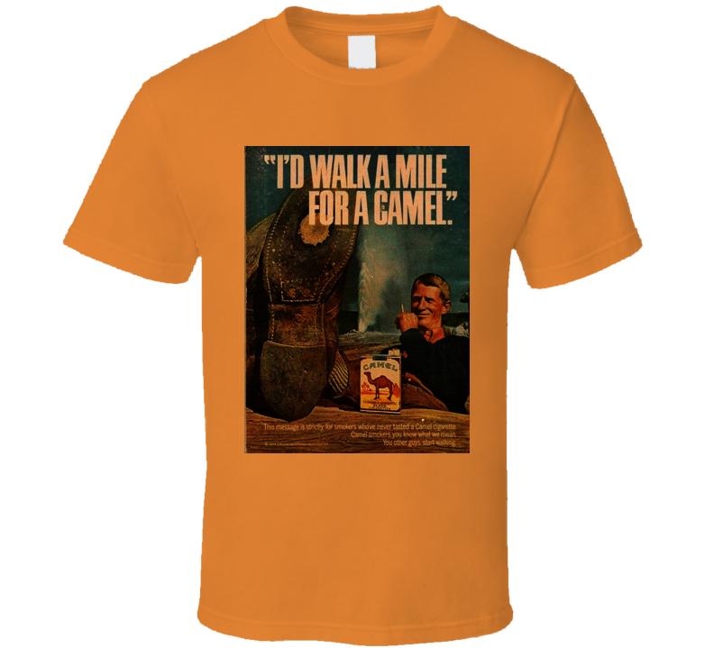 Camel Retro Classic Cigarette Vintage  Poster Cool T Shirt