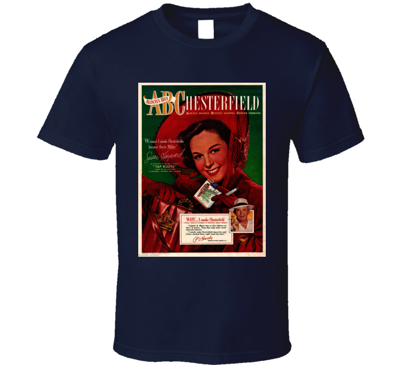 Abc Chesterfield Classic Cigarette Poster Cool  Retro T Shirt