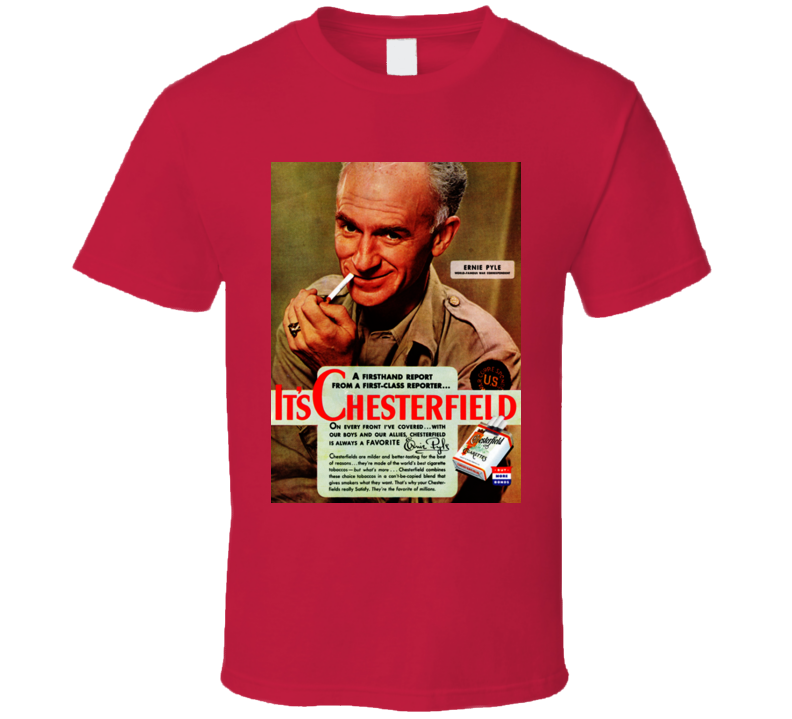 It's Chesterfield Classic Retro Cigarette Vintage Poster Cool T Shirt