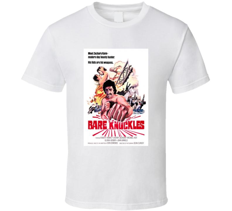 Bare Knuckles Retro 1977 Popular Blaxploitation Movie Fan Poster T Shirt