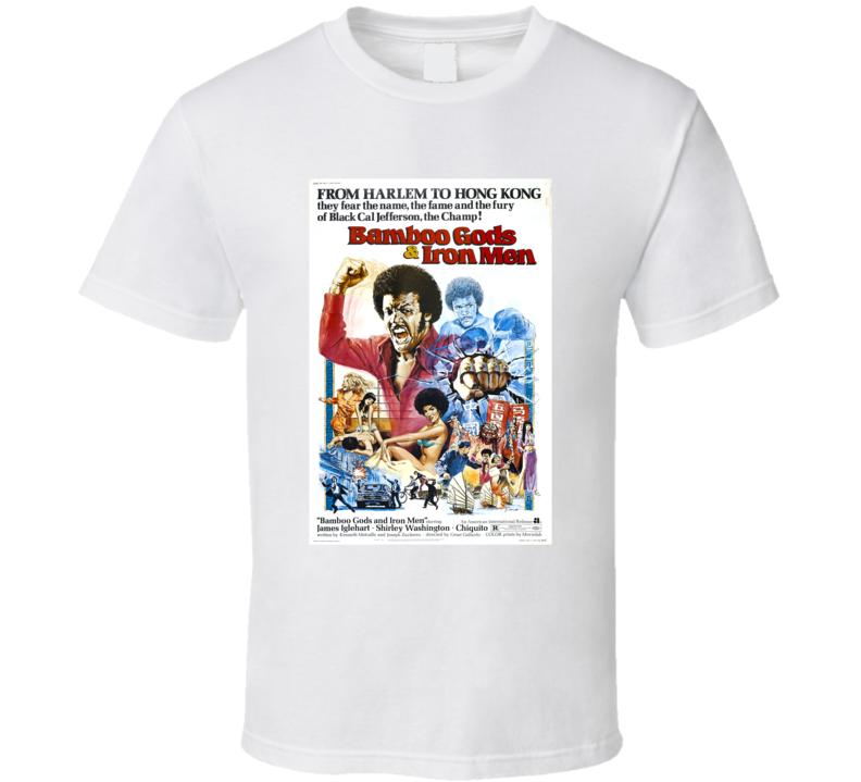 Bamboo Gods And Iron Men Retro 1974 Popular Blaxploitation Movie Fan Poster T Shirt