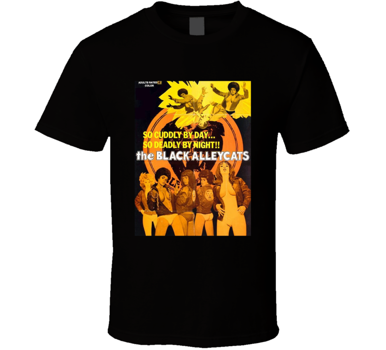 The Black Alley Cats Retro 1973 Popular Blaxploitation Movie Fan Poster T Shirt