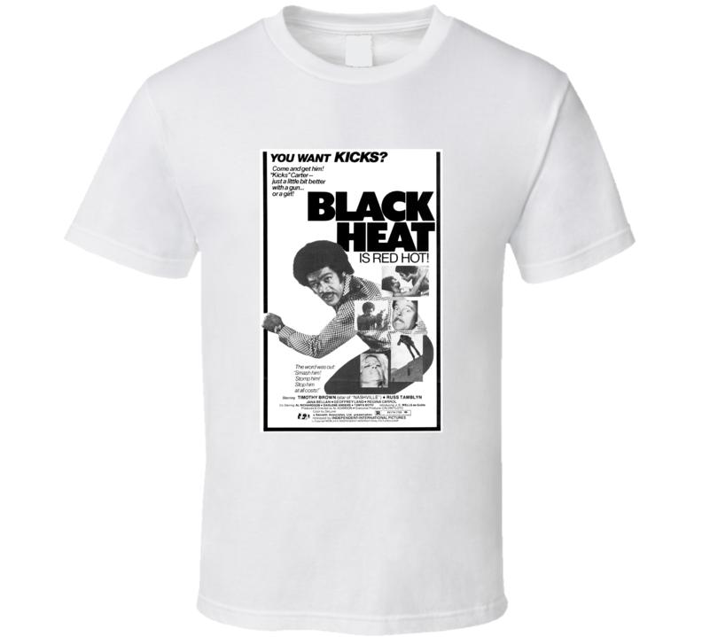 Black Heat Retro 1976 Popular Blaxploitation Movie Fan Poster T Shirt