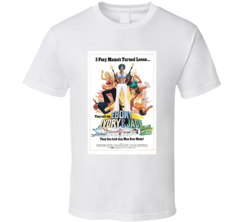 Ebony Ivory And Jade Retro 1976 Popular Blaxploitation Movie Fan T Shirt
