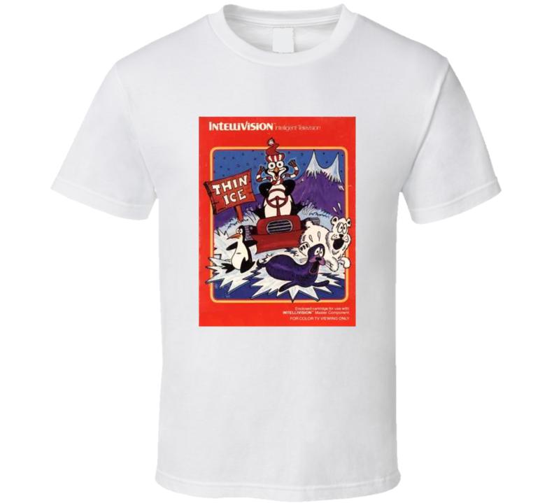Thin Ice 1980's Intellivision Popular Video Game Vintage Box T Shirt