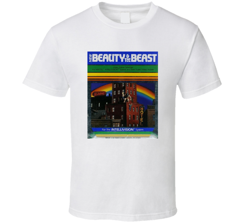 Beauty And The Beast 1980's Intellivision Popular Video Game Vintage Box T Shirt