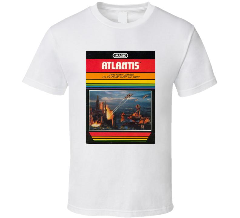 Atlantis 1980's Intellivision Popular Video Game Vintage Box T Shirt