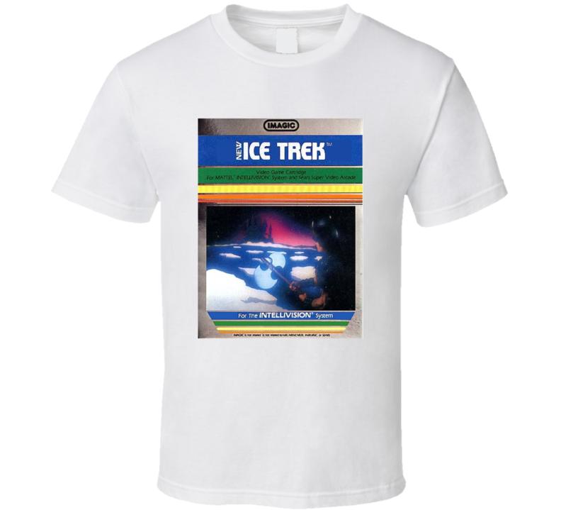 Ice Trek 1980's Intellivision Popular Video Game Vintage Box T Shirt
