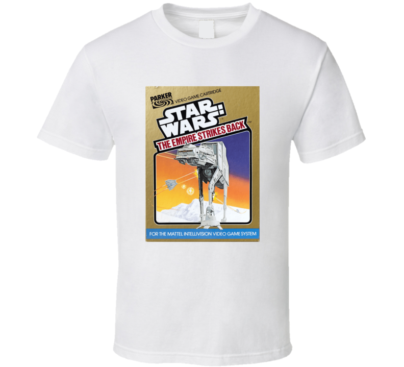 Star Wars The Empire Strikes Back 1980's Intellivision Popular Video Game Vintage Box T Shirt