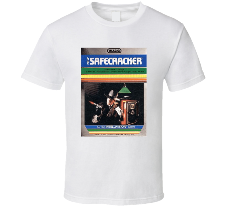 Safecracker 1980's Intellivision Popular Video Game Vintage Box T Shirt