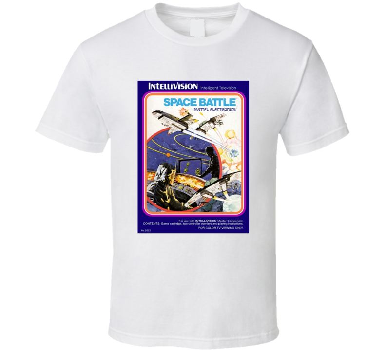 Space Battle 1980's Intellivision Popular Video Game Vintage Box T Shirt