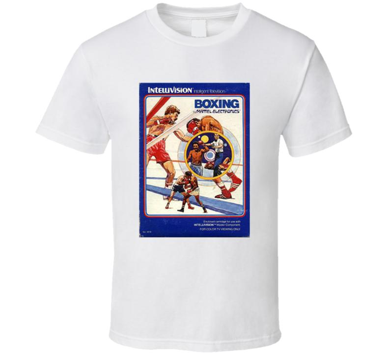 Boxing 1980's Intellivision Popular Video Game Vintage Box T Shirt