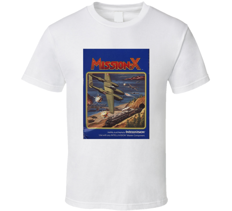 Mission X 1980's Intellivision Popular Video Game Vintage Box T Shirt