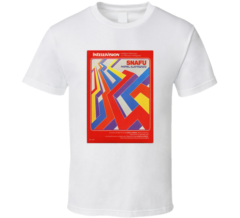 Snafu 1980's Intellivision Popular Video Game Vintage Box T Shirt
