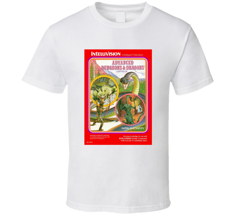 Advanced Dungeons And Dragons 1980's Intellivision Popular Video Game Vintage Box T Shirt