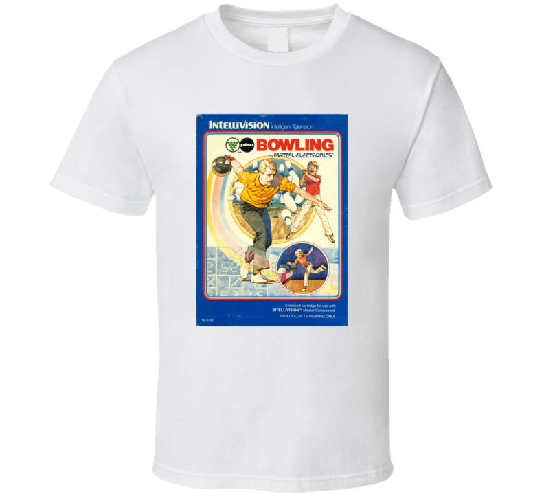 Pba Bowling 1980's Intellivision Popular Video Game Vintage Box T Shirt
